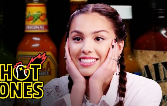 Olivia Rodrigo Burns Her Lips While Eating Spicy Wings – Hot Ones